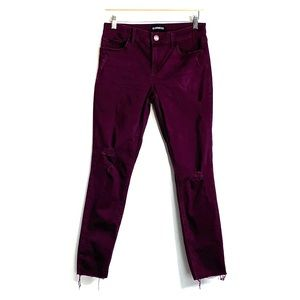 EXPRESS • Distressed Maroon Wine Jegging Pants